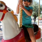 On the carousel at the McCormick-Stillman Railroad Park.